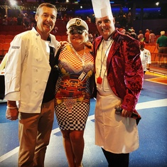 VALENTINA AVED WITH MICHAEL BAYLEY AND CHEEF OF ALLURE OF THE SEAS
