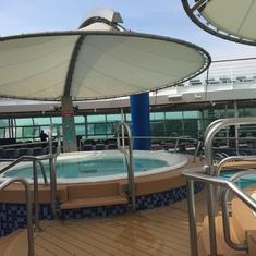 Jacuzzi on Pool Deck