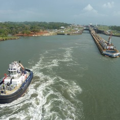 Exiting the final lock, Panama Canal