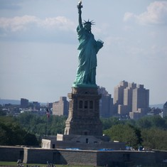 Lady Liberty standing proud and tall.