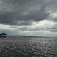 Coxen Hole, Roatan, Bay Islands, Honduras - Maya Key, Roatan. Skies were ominous but we still had a good time.
