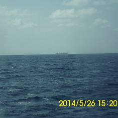One day at sea...no sign of land...LOL!