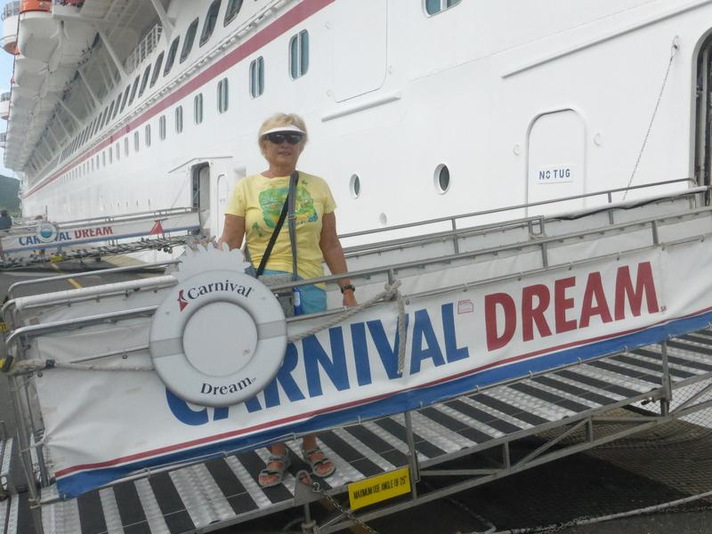 Gloria on the Gangway - Carnival Liberty