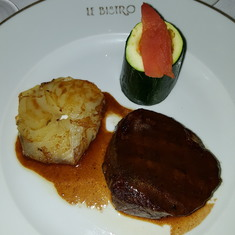 Royal Naval Dockyard, West End, Bermuda - steak and Potatoes, what else can You ask.
