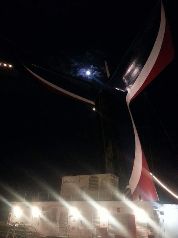 Beautiful full moon - Carnival Victory