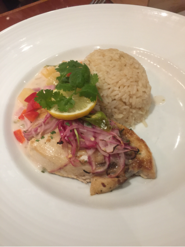"Grilled Swordfish on the ""Port of call"" menu...delightful  - Carnival Elation"