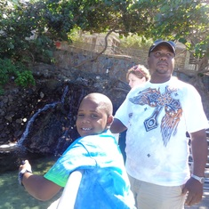 Charlotte Amalie, St. Thomas - At the turtle pond, coral world