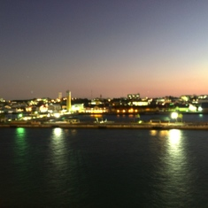 Leaving Nassau, last night at sea.