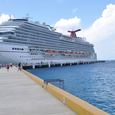 Dock at Cozumel