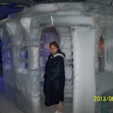 Ice chapel in Magic Ice ice bar.