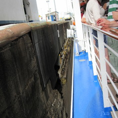 Start in Pedro Miguel Locks from deck 7 at 10:45 AM