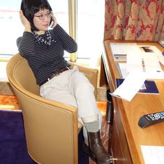 Work Desk in Pinnacle Suite, Cabin 7001, Zaandam, HAL
