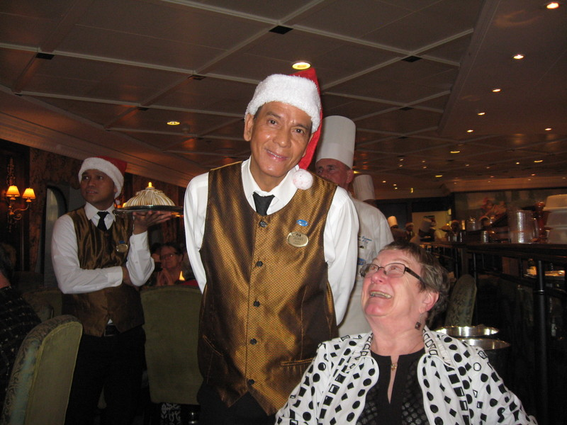 Jerry, from the Phillipines, excellent waiter and good guy.  - Pacific Princess