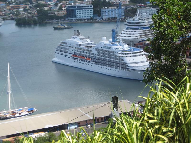 Scarborough, Trinidad and Tobago - Our Seven Seas Navigator awaiting our return, Tobago