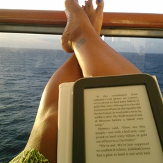 Cozumel, Mexico - Enjoy my first balcony with good book.