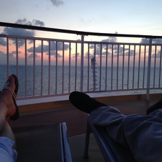 Don't complain about staterooms when you could have this view instead