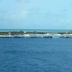 Great Stirrup Cay (Cruiseline Private Island), Bahamas - view from the ship of great stirrup cay