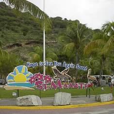 Philipsburg, St. Maarten - Roundabout in St. Maarten