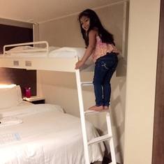 Pull down bunk bed