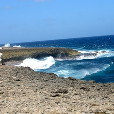Willemstad, Curacao - Rough surf at Shete Boka Park