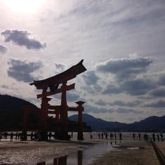 Otori gate in Miyajima, Hiroshima.