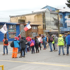 Union workers blocking excursions in Chile