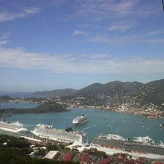 Charlotte Amalie, St. Thomas - View of Cruise Ships from Paradise Point #2