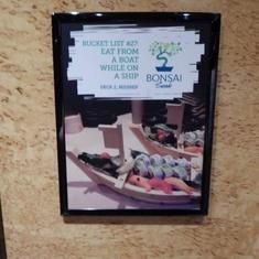 Bonsai Sushi on Carnival Legend