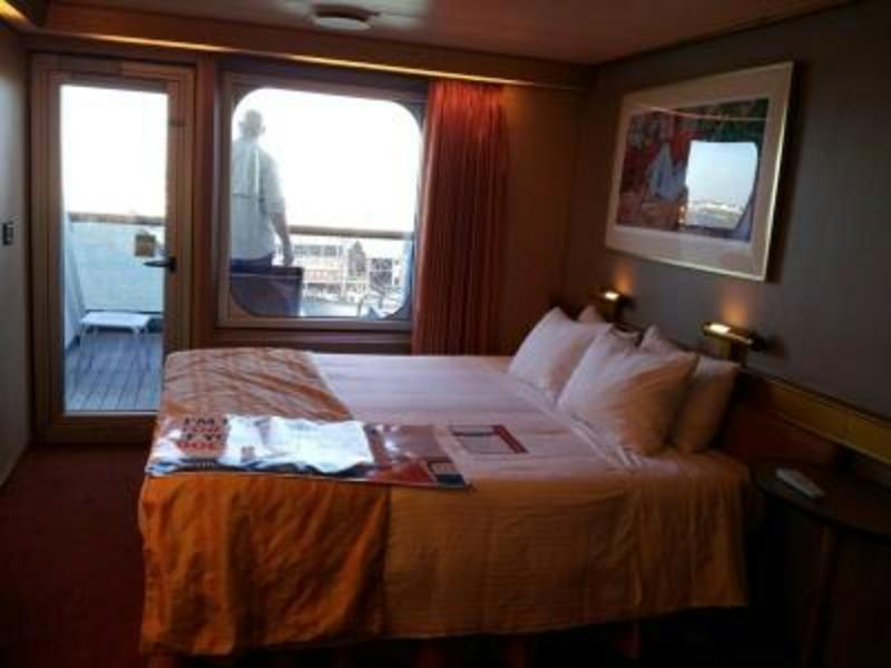 Aft-View Extended Balcony Stateroom on Carnival Triumph