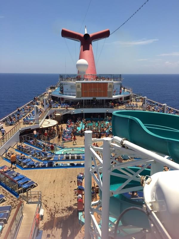 Azure Lido Pool on Carnival Glory