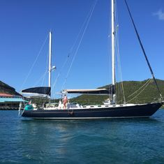 Charlotte Amalie, St. Thomas - Our ride for the day, a Gallant 53.  Red Hook Marina