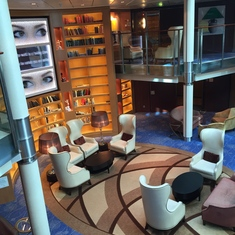 Bilevel library looking down from Deck 11