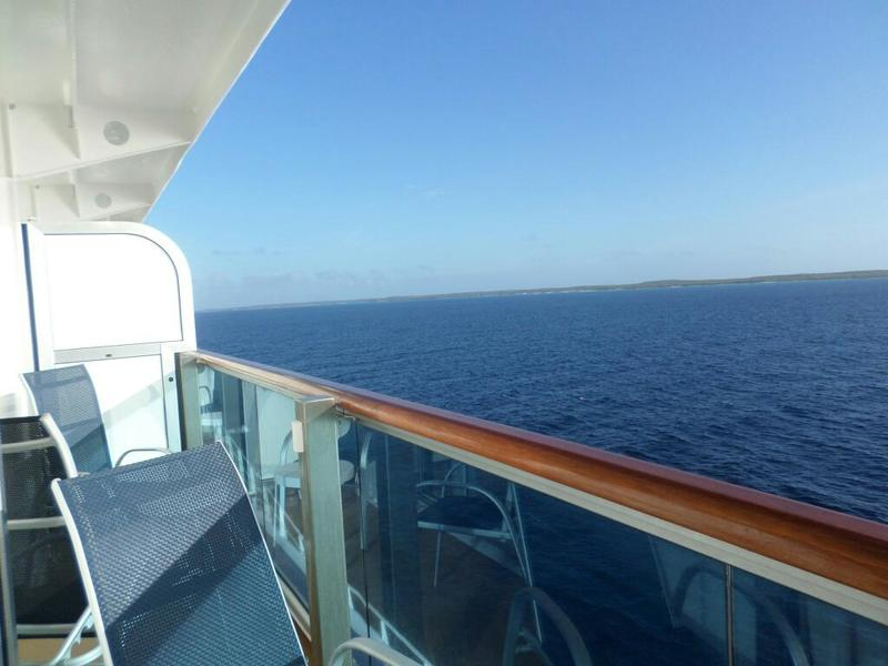 Deluxe Balcony Stateroom Obstructed View Cabin Category DW - What is obstructed view on a cruise ship