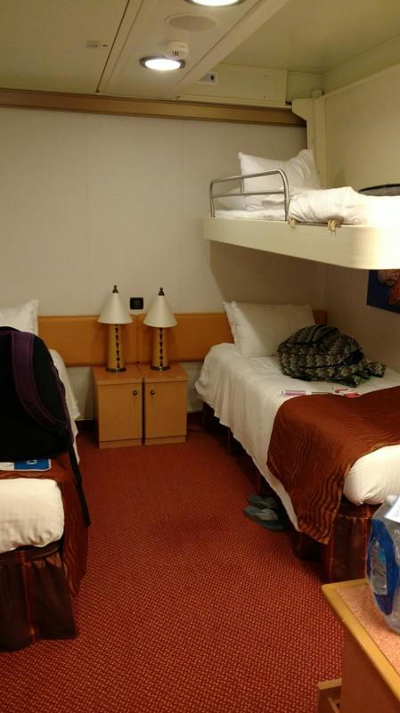 Apartment Interior With 4 Rooms: Interior Stateroom, Cabin Category 4H, Carnival Magic