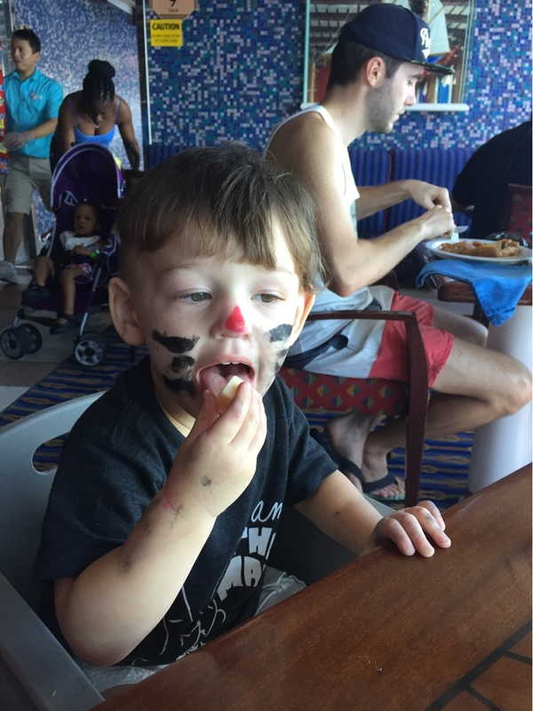 Face painting - Carnival Glory