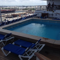 Terrace Pool on Caribbean Princess