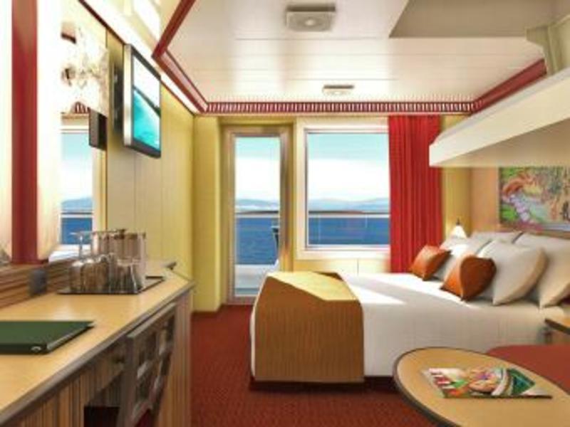 Balcony Cabin 6314 on Carnival Dream, Category 8B