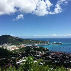 Getaway in port at St. Thomas