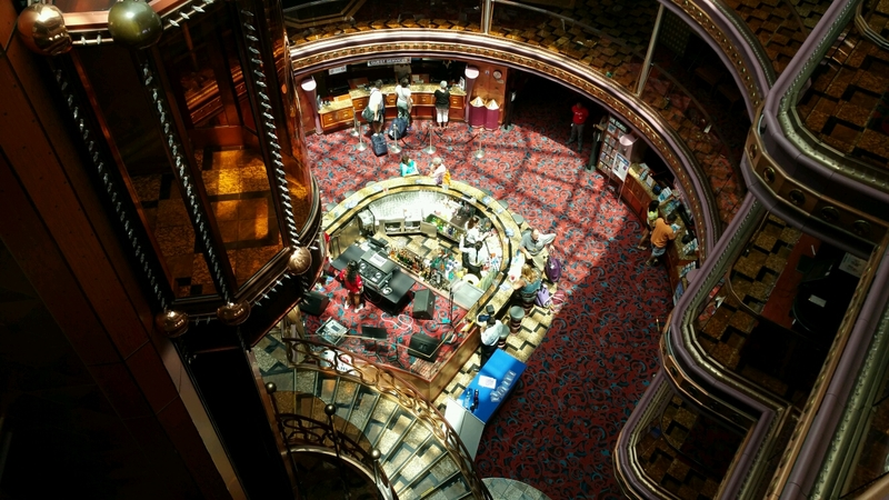 Looking down from our floor. The Verandah - Carnival Elation