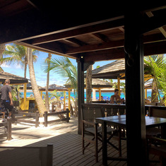 Philipsburg, St. Maarten - St. Maarten beach - where you have lunch.