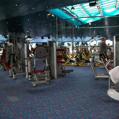 Fitness Center on Carnival Triumph