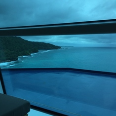 View from Reflection Room in Spa