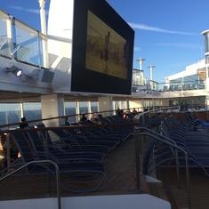 Movie Screen on Quantum of the Seas