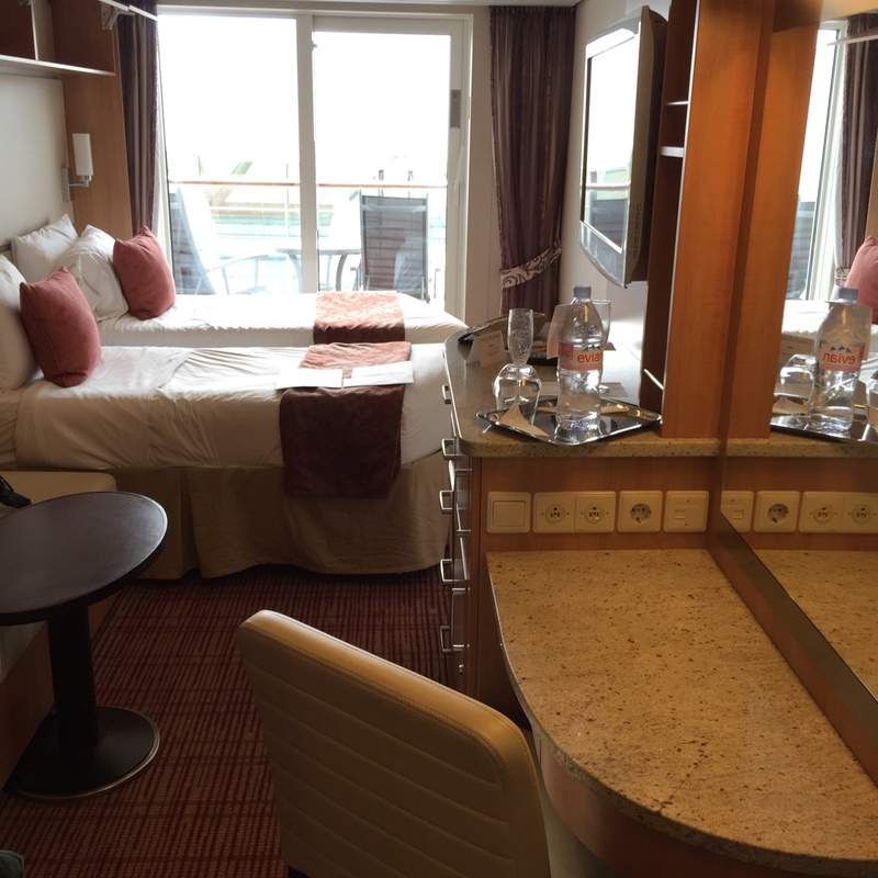 Deluxe Veranda Stateroom (Obstructed View) on Celebrity Eclipse