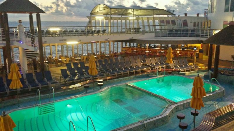 lido pool at 6am - Carnival Sensation