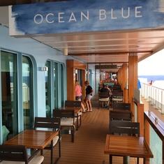 Ocean Blue on the Waterfront on Norwegian Breakaway