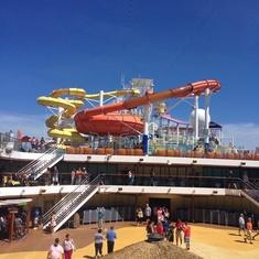 Slide Entrance on Carnival Breeze