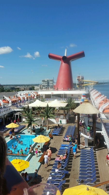 Picture Of Waiting To Sail Off Carnival Ecstasy