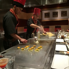 Teppanyaki on Norwegian Sun