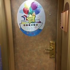 Happy Birthday Door Sign
